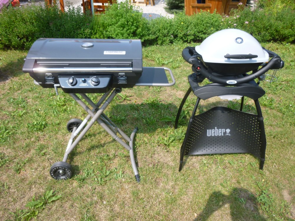 Recenze grilu - Campingaz 2 Series Compact LX vs plynový gril Weber Q 1200
